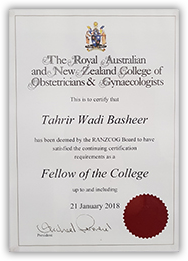 Royal Australian and New Zealand College of Obstricians & Gynecologists